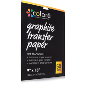 Colore ProVisible Graphite Transfer Artist Paper 23cm x 33cm - Boldly Create Art With Reusable & Erasable Carbon