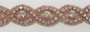 ModaTrims Hot-Fix or Sew-On Beaded Crystal Rhinestone Trim by Yard for Bridal Belt Wedding Sash