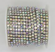 10 Yard Crystal AB Rhinestone Close Chain Clear Trim Sewing Craft