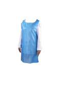 Genware NEV-EBA Disposable Apron, Flat packed, Blue