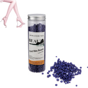 Anmas Home Lavender No Strip Hair Removal Hard Wax Beans Depilatory for Man and Woman for Men & Women