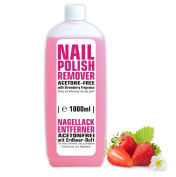 1 Litre Acetone Free Nail Polish Remover with Subtle Strawberry Fragrance