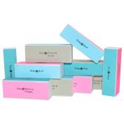 Nailfun Professional® Polishing Block – 4 Faces,, Blue 10 pezzi