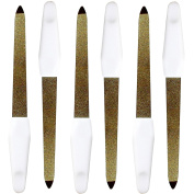 Innovate Compact Pocket Size Hand Nail Manicure 12.5cm Styler File Single Pack x 6 Nail Files