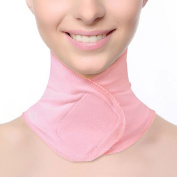 sourcingmap® Pink Gel Elastic Fabric SPA Moisturising Neck Skin Care Wrapping Protective Band