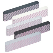 Pack of 50 straight nail files 100/180/240