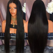 Jolitime Hair Black Hair Wigs Long Straight Synthetic Lace Front Wig with Baby Hair 50cm