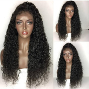 QD-Tizer Loose Curl Synthetic Lace Front Wigs Black Curly Lace Front Wigs for Black Women 50cm