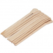 Bluezoo Waxing Sticks Spatulas Wood Wax Applicator for Eyebrow Bikini Hair Removal 100 Count