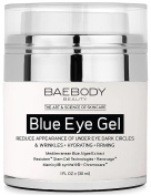 Baebody Blue Eye Gel for Dark Circles & Wrinkles - w Mediterranean Blue Algae Extract - Intensive Eye Gel for Under and Around Eyes - 30ml