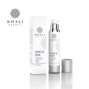 Khali Beauty Advanced Age Intervention Retinol Gel Cream–Anti-Wrinkle Facial Night Cream-All Natural Botanicals,Hyaluronic acid,Sea Kelp Bioferment,Matrixyl 3000,Vitamin C & E-Moisturises & Hydrates 50ml