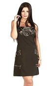 Ladybird Line Rocker Stylist Apron with Metal Studs Faux Leather . Hair Stylist , Barbers & Pet Groomers