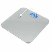Rechargeable Bathroom Scales, NUWELL 1st USB Charging Body Weight and Health Digital Scale with Large 8.9cm LCD Display Auto-On Technology and Sensor Accuracy for Superior Readings – 440lbs (200kg) Max