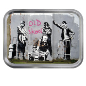 Banksy Old Skool 60ml Silver or Gold Tin Tobacco Storage