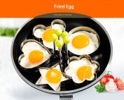 MUMUTIPS 5PCs Fried Egg Mould Non Stick Stainless Steel Pancake Mould Omelette Pancake Rings Cooking Tools