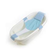 Huluwa Baby Bath Seat Non-Slip Newborn Baby Bathtub Seat, Adjustable Versatile, Keep Baby Safe, Blue