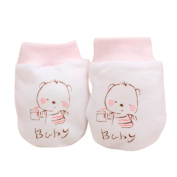 FEITONG Newborn Baby Cartoon Anti Scratch Mittens Soft Rope Thickness Gloves
