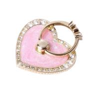Universal Phone Ring Bracket holder ,UCLL New Design Diamond Luxury Lovely Hearth shape Crystal Finger Grip Stand Holder Ring Phone Ring Grip Creative Gift