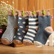 Kk 100 Unisex-baby Newborn 4-pack Colourful Socks