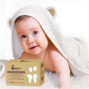 Super Soft Baby Bamboo Hooded Towel | Organic, Absorbent, Hypoallergenic, Antibacteria & Free from Chemicals | Keeps Baby Dry and Warm | Sized for Infant and Toddler