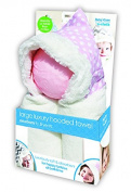 e-cloth Luxury High-Performance Hooded Baby Bath Towel with Micro-dry Technology - Pink Large