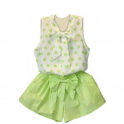 Vanvler Kids Baby Girls Polka Dot Vest Tops Shirt +Shorts Pants 2PC Set Clothes