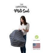 "AS SEEN ON SHARK TANK The Original Milk Snob Infant Car Seat Cover and Nursing Cover Multi-Use 360° Coverage Breathable Stretchy ""Marine"""