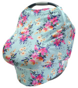 LulaBaby - 360° 4-in-1 Stretchy Car Seat Cover, Nursing Cover, and Shopping Cart Cover