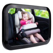 Zacro Baby Back Seat Mirror, Shatterproof Acrylic Baby Car Mirror, Rearview Baby Mirror-Easily to Observe the Baby's Every Move, Safety and 360 Degree Adjustability
