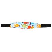 Soft Safety Kids Baby Stroller Car Seat Sleep Nap Aid Head Support Holder Belt - Light Blue