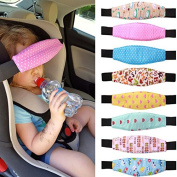 Child Car Safety,ZQUS,Sleep Artefact Child Safety, Seat Head Fixing Auxiliary Cotton Belt Pram Secure Strap Doze Band for Baby Pram Child Safety Seat,Random Colour