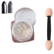 Nail Mirror Powder, Fullfun 2g/ Box Sliver Nail Glitter Powder Shinning Nail Mirror Powder Makeup Art DIY Chrome Pigment