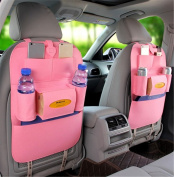 BININBOX Car Backseat Organiser Felt Pocket Protector Kick Mat Auto For Baby Kids Travel Accessories Toy Bottle Storage