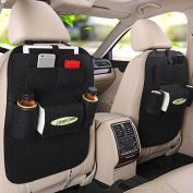 MEGOOD Multi-function 2Pcs Vehicle Storage Bag Felt Non-woven Fabric Car Auto Front or Back Seat Organiser Travel Storage Bag