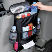 Fochutech Car Seat Back Organiser Multi-Pocket Auto Travel Sundry Hanging Storage Cooler Bag For Water Book Bottle Beer