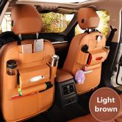 MEGOOD 1Pcs Multi-function Leather Vehicle Storage Bag,Car Auto Front or Back Seat Organiser Travel Storage Bag