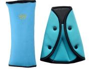 Auto Pillow Car Safety Belt Protect Shoulder Pad Adjust Vehicle Seat Belt Cushion with Seat Belt Adjuster for Kids Children ( Blue ) By CandyHan