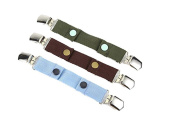 Borje Baby & Toddler Stretchable Adjustable Snap Belt With Clip Suitable For Any Pants,One Pack of 3 Colour