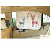 Mocase Cute Car Window Shade Magnetic Sun Block