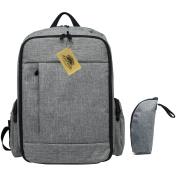 Abonnylv Nappy Bag Backpack with Insulated Bottle Bag, Large Capacity & Multifunction Baby Travel Knapsack -
