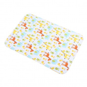 Baby Deluxe Change Pad - Infant Baby Deluxe Flannel And Bamboo Fibre Cotton Change Pad,Waterproof Cartoon Pattern Nappy Changing Pad For Home And Travel