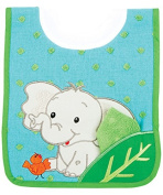 AM PM Kids! Pullover Bib with Wash Cloth, Elephant