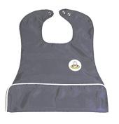 Neatnik Slide Pocket Bib, Grey/White
