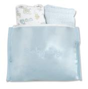 Trend Lab Bib and Burp Cloth Gift Set, Blue