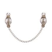 Nipple Clip, 2m² Nipple Massage Strong Clip Adjustable Butterfly Design with Stainless Steel Chain,Silver