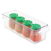 mDesign Baby Food and Formula Bottle Storage Container for Kitchen, Pantry, Nursery Closet - Clear