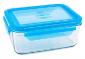 Wean Green Glass Food Storage Containers, Meal Tub 1060mls, Blueberry