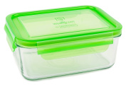 Wean Green Glass Food Storage Containers, Meal Tub 1060mls, Pea