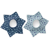 Theshine 360 Degree Rotatable Baby Bibs With Two Snaps, Unisex, 2 Pack, Multi Style, Waterproof