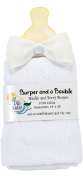 AM PM Kids! Burper and a Bauble Set, White Muslin, 2 Count
